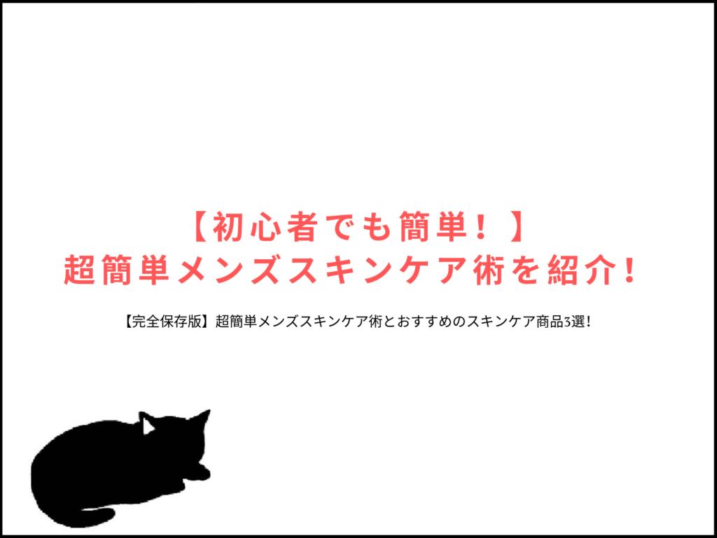 【初心者でも簡単!】超簡単メンズスキンケア術を紹介!