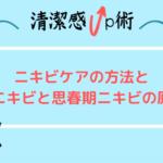 【徹底解説】ニキビケアの方法と大人ニキビと思春期ニキビの原因!