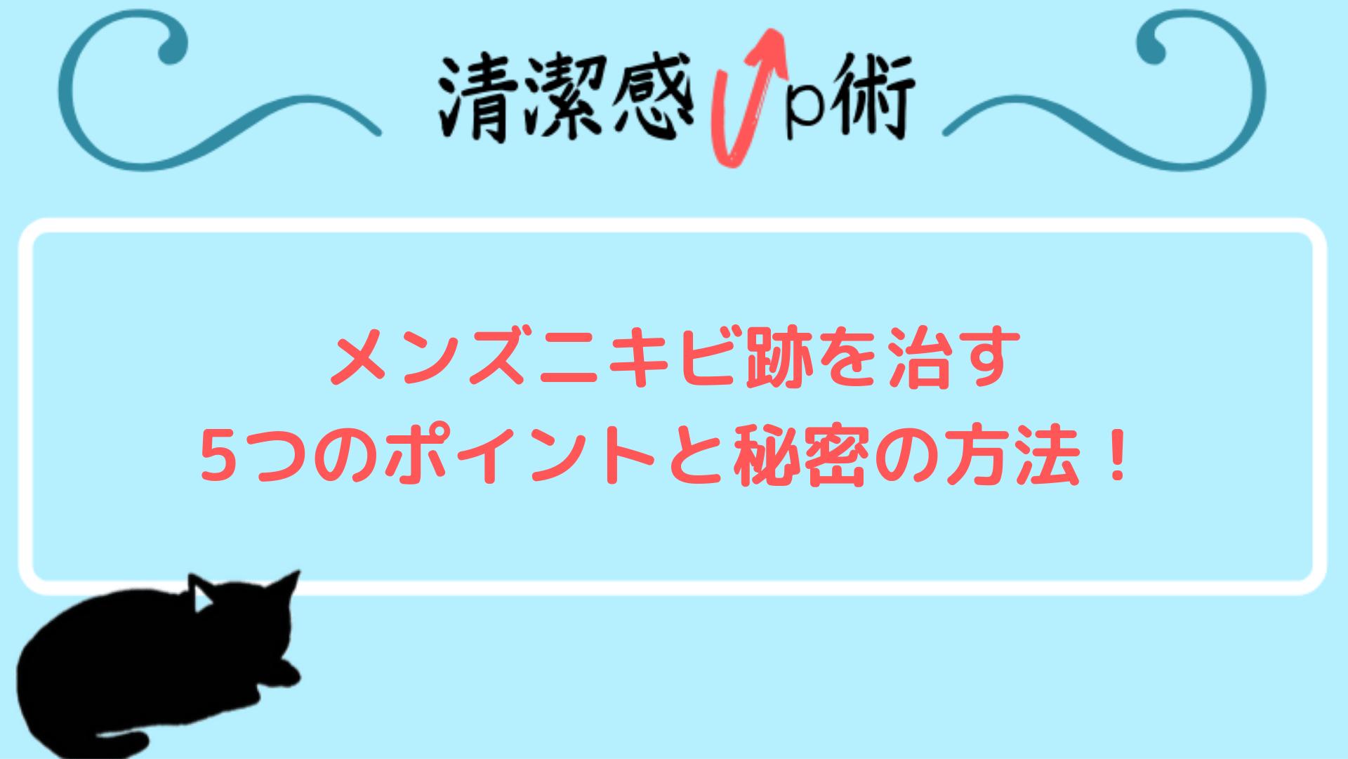 【徹底解説!】メンズニキビ跡を治す5つのポイントと秘密の方法!