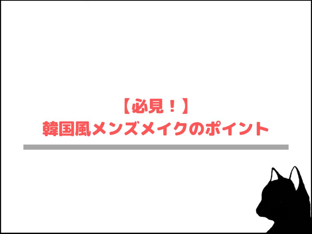【必見!】韓国風メンズメイクのポイント